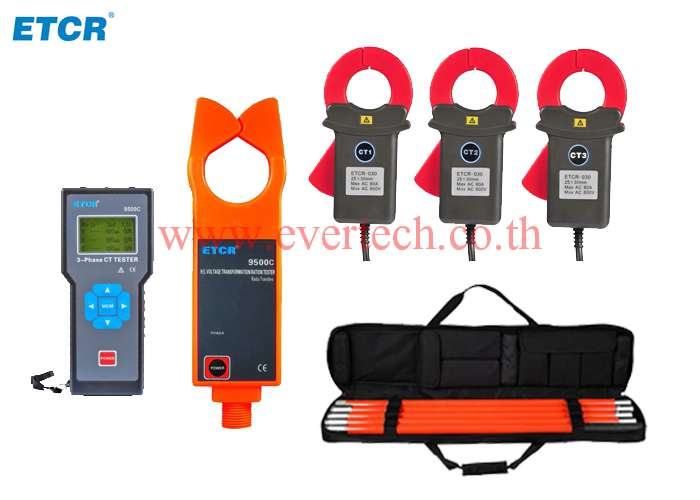 ETCR9500 series แคล้มป์วัดอัตราส่วนหม้อแปลง Three-channel Wireless
